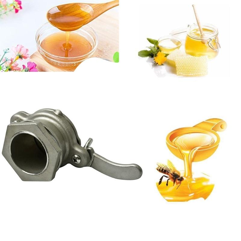 1PC Honey Extractor Stainless Steel Honey Gate Honey Valve Honey Tap Beekeeping Bottling Tools Beekeeping Supplies Equipment|Beekeeping Tools| |  - title=