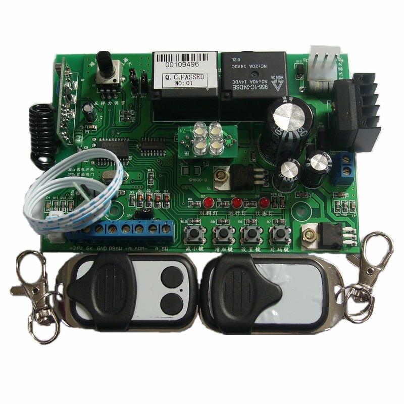 Universal garage door motor control board garage door controller (including 2 hardcover garage door remote controls)