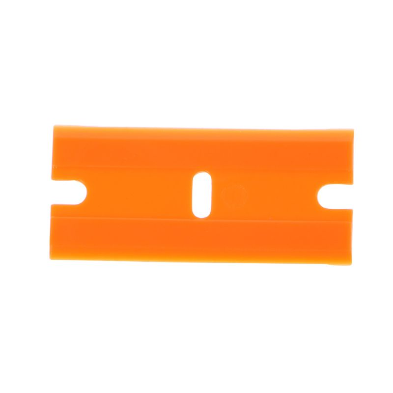 10Pcs/Set Double-Edged Plastic Blades Replacement Scraper Window Car Glass Glue Tape Remover Safety Sticker Decals Removal Tool