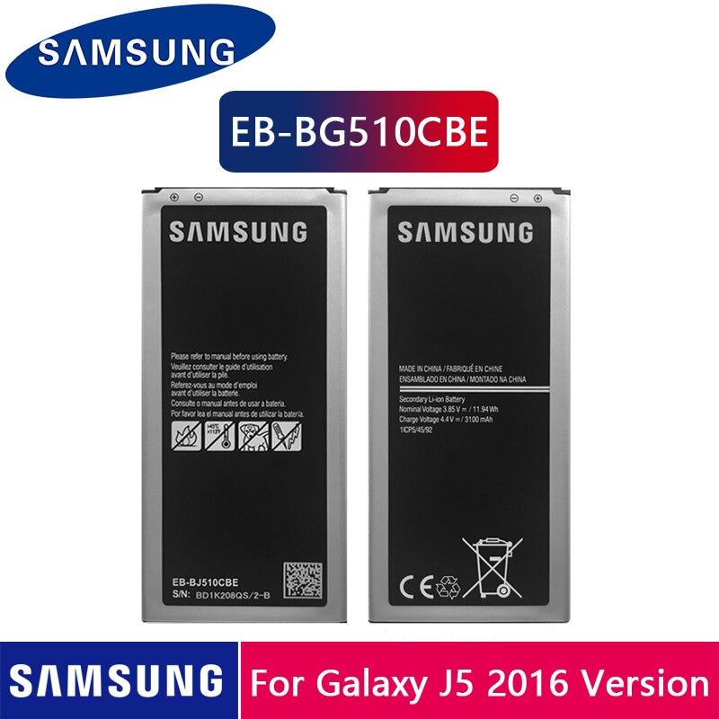 Samsung Original Battery EB-BJ510CBC For Samsung Galaxy J5 2016 Edition J5 2016 J510 J510FN J510F J510G EB-BJ510CBE 3100mAh