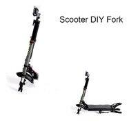 Scooter Schokdemper Voorvork Dubbele Aluminium Drive Frame Schokdemper Voorvork Elektrische Scooter Frame Vork