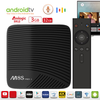 iLEPO M8S Pro L Voice Control Android TV OS Smart Box Amlogic S912 64 bit 3G/16G 3G/32G 2.4+5GHz Dual Wifi 100M LAN BT4.1 4K
