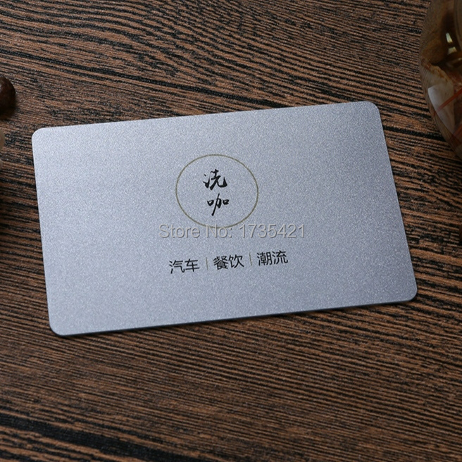 Two-Side Printable Business Cards ID Card Matte Clear PVC Hard Paper Pack Of 1000pcs Custom Your Logo