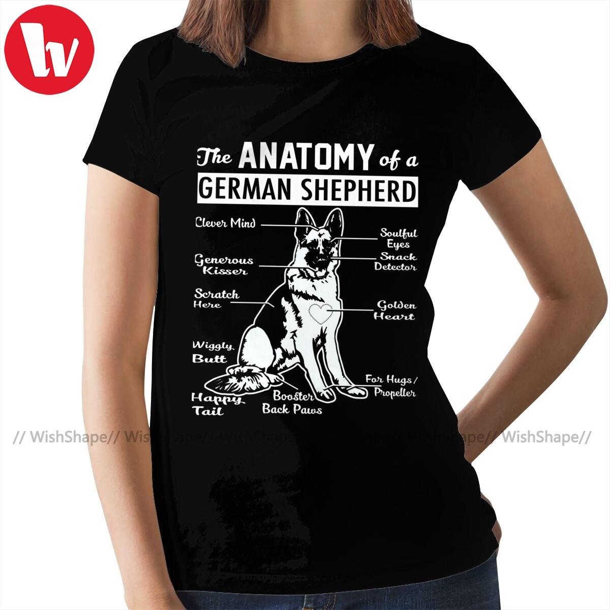 German Shepherd T-Shirt The Anatomy T Shirt Street Fashion Short Sleeve Women tshirt O Neck Ladies Tee Shirt