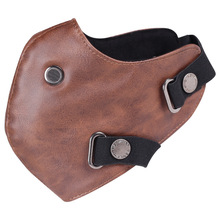 Motorcycle warm mask Pu leather for our store helmet of 888 black Brown color