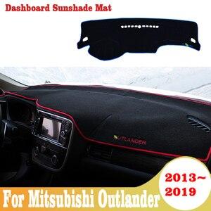 Capa painel para mitsubishi outlander 2013-2019, proteção solar automotivo para painel acessórios