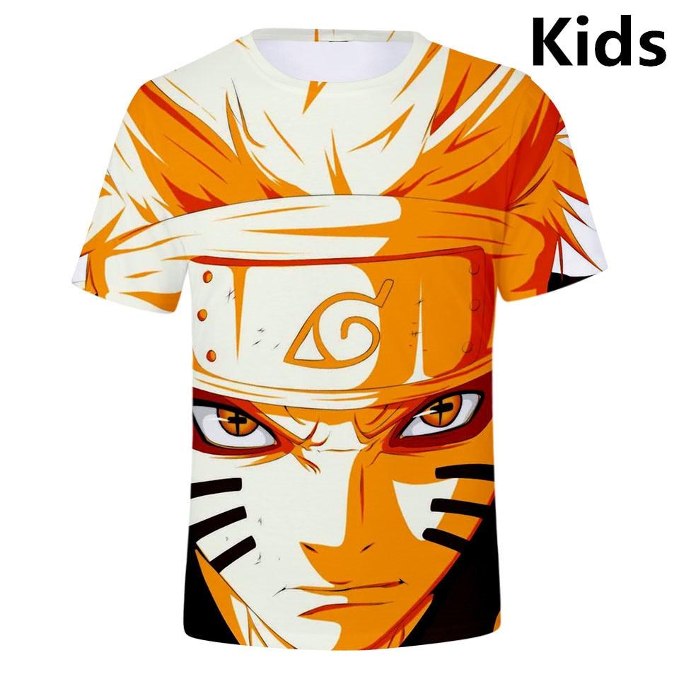 3 To 13 Years Kids T Shirt Naruto 3D Printed T-shirt Boys Girls Short Sleeve Tshirt Cartoon Uzumaki T Shirts Children Clothes