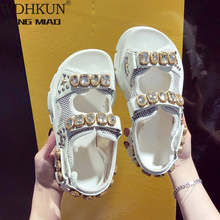 Summer Rhinestone Women Sandals shoes women 2019 Breathable