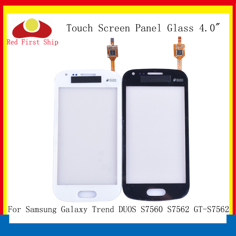10Pcs lot For Samsung Galaxy Trend DUOS S7560 S7562 GT S7562 Touch Screen Digitizer Panel Sensor S 7562 7560 LCD Glass Lens in Mobile Phone Touch Panel from Cellphones Telecommunications