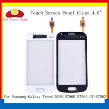 10Pcs/lot For Samsung Galaxy Trend DUOS S7560 S7562 GT-S7562 Touch Screen Digitizer Panel Sensor S 7562 7560 LCD Glass Lens lychee grain style protective abs back case for samsung galaxy trend duos s7562 s7560 white