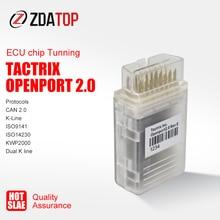 Tactrix Openport 2.0 مع وحدة تحكم في وحدة التحكم الإلكترونية فلاش رقاقة تونينج تاكتريكس openport 2.0 إكوفلاش مع جميع SW مجموعة كاملة OBDII موصل