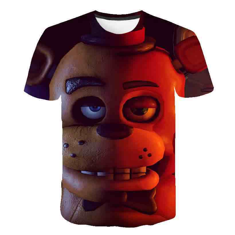 3 Sampai 14 Tahun Anak-anak T Shirt Lima Malam Di Freddy 3d Dicetak T-shirt Anak Laki-laki Anak Perempuan Fashion Lengan Pendek Tshirts FNAF Anak T-shirt