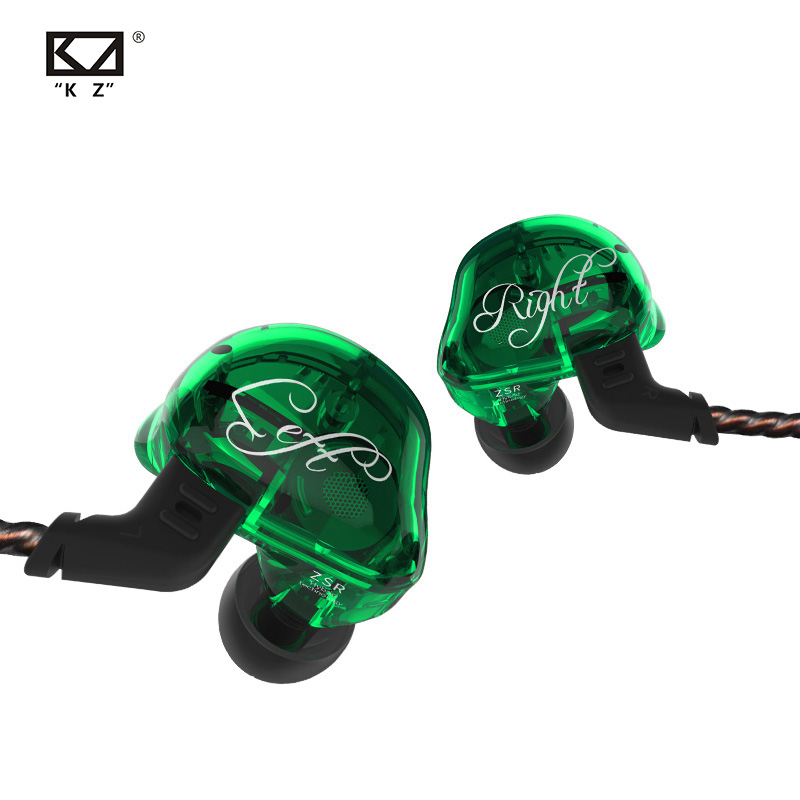 KZ ZSR Six Drivers In Ear Earphones Armature & Dynamic Hybrid Gaming Headset Hifi Bass Noise Cancelling Headphones For Phone