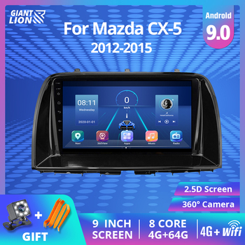 9'' IPS Car Radio For Mazda CX5 CX-5 CX 5 2012-2015 Car Multimedia Video Player Navigation GPS Android 9.0 No 2din Dvd Player image