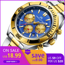 Get more info on the MEGALITH Men Sport Wristwatches Luxury Brand Gold Steel Strap Watches Men Waterproof Luminous Quartz Man Clock Reloj Hombre 2019