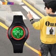 Skmei Детские светодиодные цифровые часы с календарем спортивные