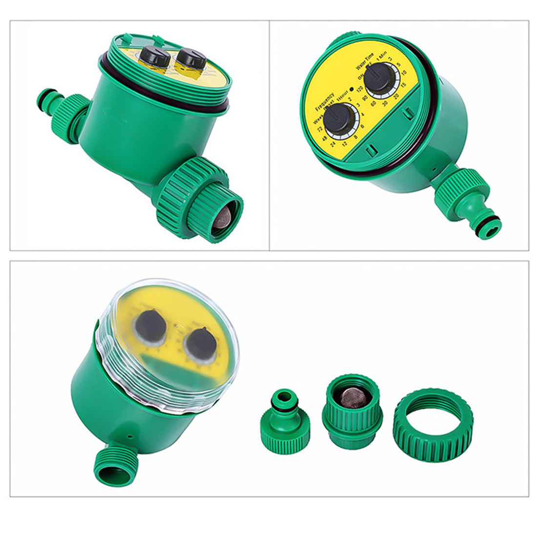 Купить с кэшбэком Automatic Watering Timer Irrigation Timer Ball Valve Electronic Irrigation Controller Water Timer For Garden Watering System