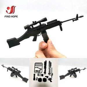 Image 5 - 8 قطعة/المجموعة 1/6 SVD TAC 50 Mk46 MK14 PSG 1 FIM 43 DSR قناص بندقية سلاح تجميع مسدس لعبة نموذج ل عمل الشكل