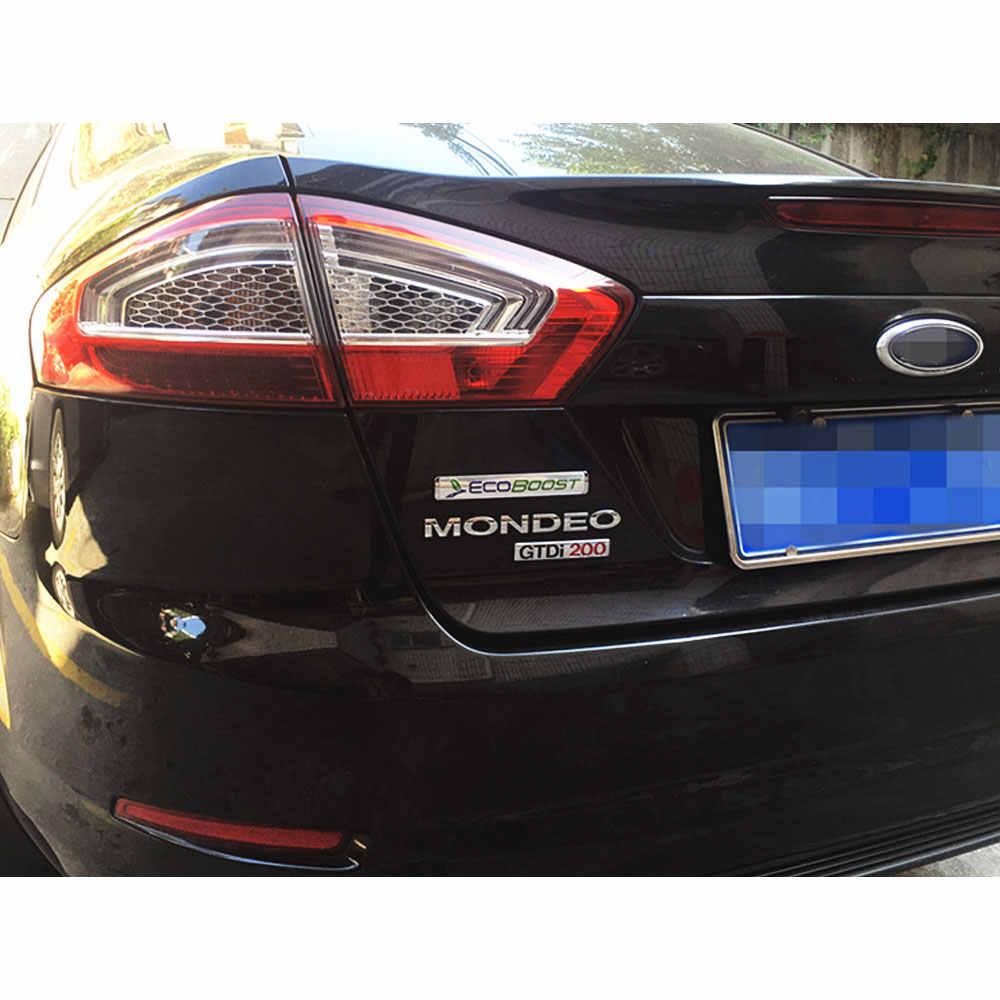 ثلاثية الأبعاد المعدنية Ecoboost سيارة SUV شاحنة الجانب دقيق الشوفان شعار خلفي بحقيبة السيارة شارة ملصق الشارات لمحرك فورد S-MAX Ecoboost