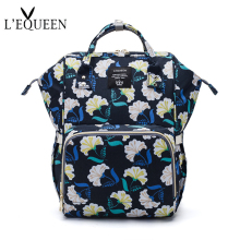 LEQUEEN Baby Travel Care Diaper Bag Backpack Stroller Nappy Large Capacity Mother's Bag Waterproof Fashion Organizer Mum Bags