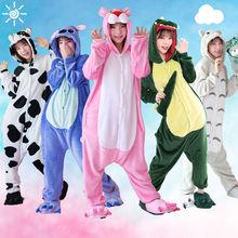 Totoro Fiishimi Onesie Adult Women Animal Pajamas Suit Flannel Warm Soft Sleepwear Onepiece Winter Pijama Cosplay