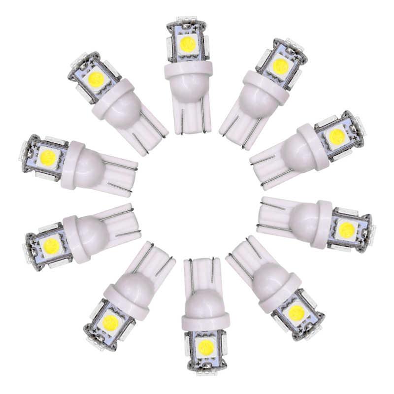 1 Pcs T10 W5W 5050 5 SMD 194 LED 168 Putih/Biru/Merah/Hijau/Kuning Baji sisi Interior Dashboard License Lampu Lampu Mobil Styling