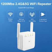 Draadloze Wifi Repeater Extender 2.4G/ 5G Wifi Booster 300/1200Mbps Versterker Grote Router Range Signaal repeator Access Point(China)
