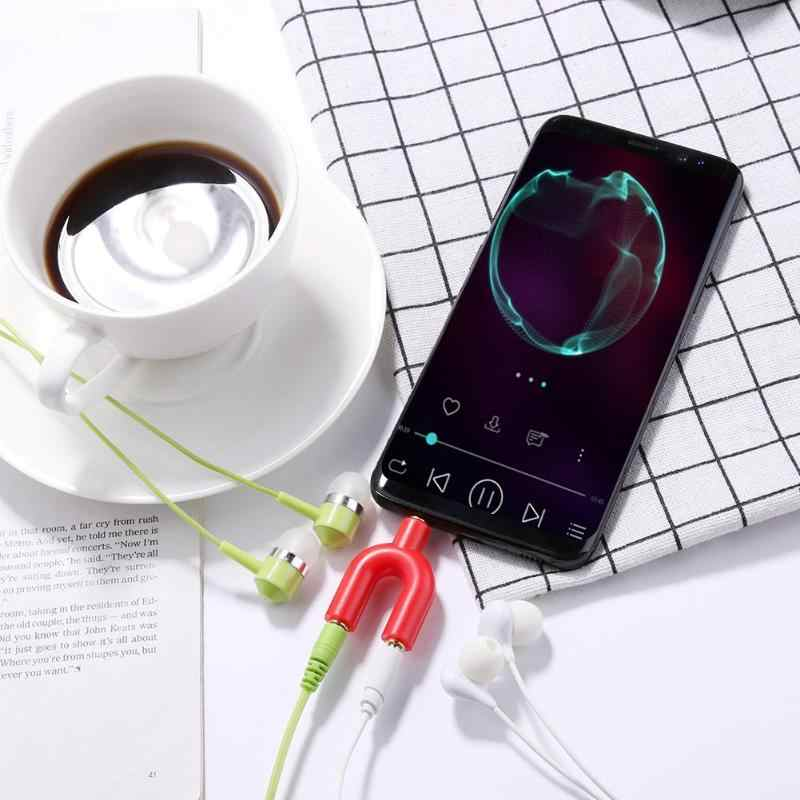 3.5mm rozszerzenie słuchawki słuchawki rozdzielacz audio 1 męski na 2 żeńskie Adapter do kabla konwerter złącze wysokiej jakości Adapter gorąca