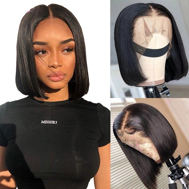 Парики для женщин, фронтальные, с прямыми натуральными волосами, 13 х4