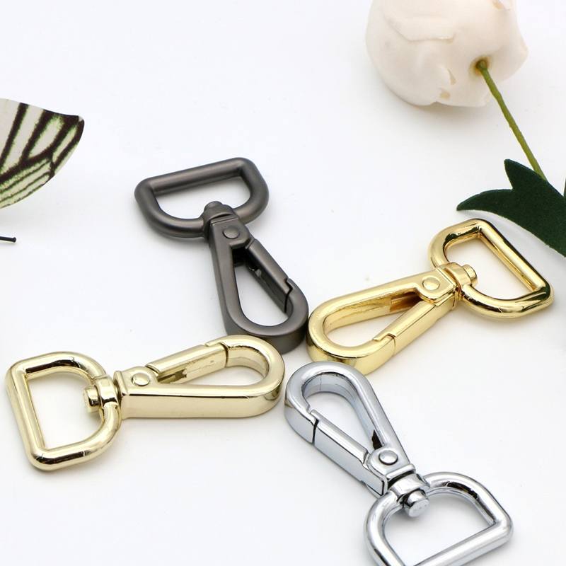 6Pcs 19mm Metal Silver Gunmetal Gold Belt Buckle Strap Bag Clasps Lobster Swivel Trigger Clips Snap Hooks Handbag