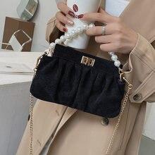 Дизайнерские сумки через плечо из искусственной кожи с бисером