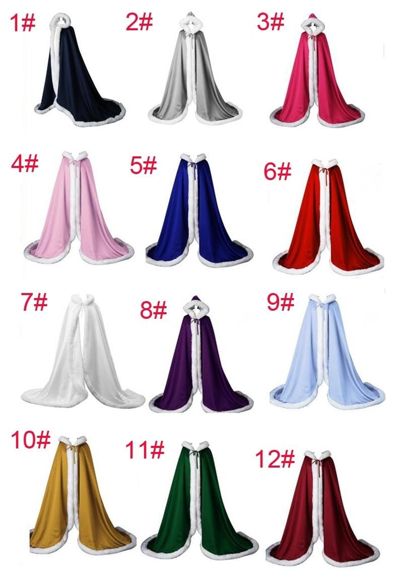 Hooded Capes Faux Fur Shawl Bridal Coat Accessories  Semi-Royal-train Cape Bride Cloak Women Poncho  Winter Cape