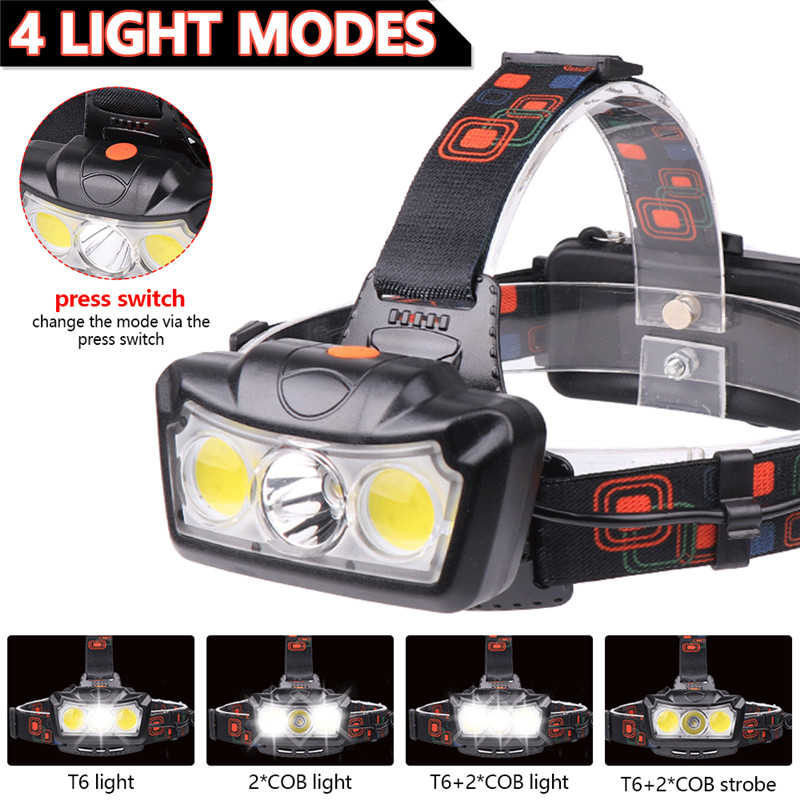 Rechargeable Tactical 30000LM T6 LED Headlamp 18650 Headlight Lamp Head Torch UK