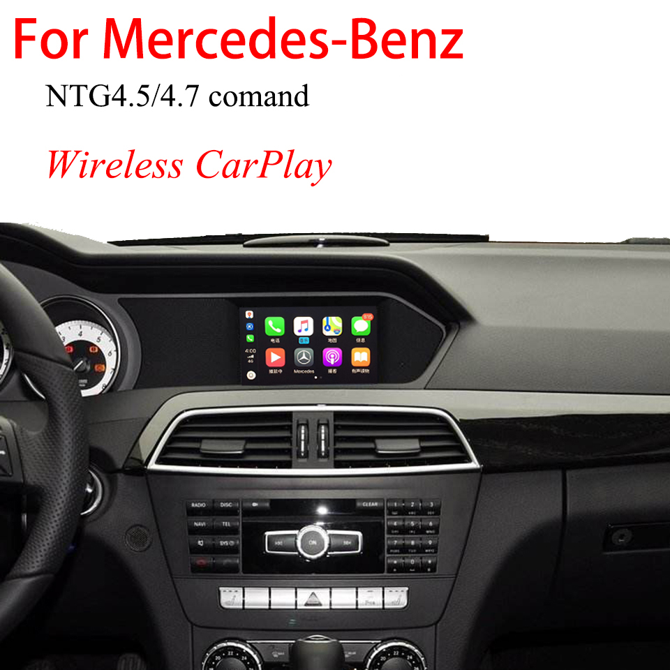 Камера заднего вида iPhone беспроводной CarPlay видео интерфейс для Mercedes NTG4.5/4,7 Comand OEM навигация