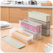 Refrigerator Food Storage Box With Lid Plastic Drawer Crisper Kitchen Noodle Fruits Container AIA99