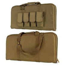 27inch 70CM Rifle Bag Tactical Combat Gun Case Hunting Hand SHoulder Carrying Bag 4 Magazine Pouches for Paintball