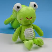 FXM 15cm green big eyes frog plush key chain creative cartoon mobile phone bag car pendant toy doll