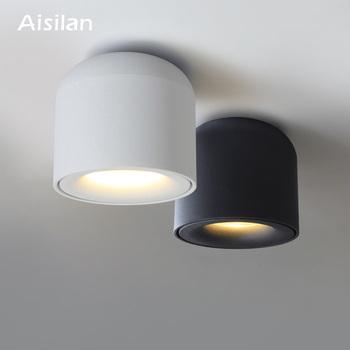 Aisilan montowane na powierzchni LED sufitowe światło punktowe do salonu sypialni kuchni lampy sufitowe korytarz AC 90v-260v tanie i dobre opinie a Aisilan ROHS CN (pochodzenie) Metrów 1-3square foyer 90-260 v Brak Z aluminium Żarówki LED Nordic Oświetlenie dzienne