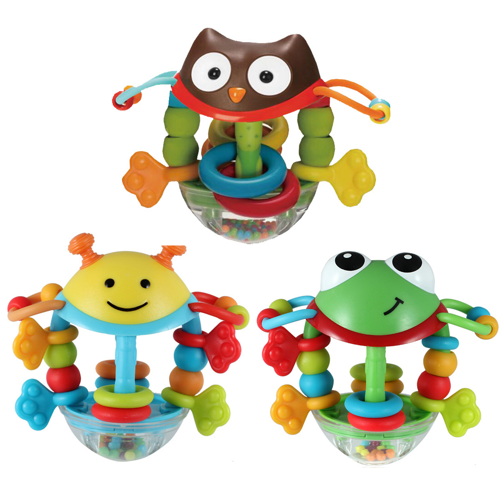 Baby Toys 6 12 13 24 Months Cartoon Baby Rattles Teether Toys for Toddler Infant Baby Boy Girl Toys Brinquedos Para Bebe Oyuncak