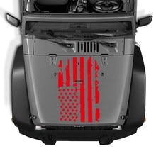 À prova dscratágua scratchproof bandeira americana vinil capa do carro adesivo motor capa decalque para jeep wrangler jk tj yj 5 cores marca de segurança