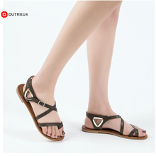 New Women Flat Orthopedic Sandals Womens Casual Solid Buckle Strap Summer