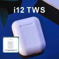 i12 TWS Pop up Wireless Earphones Bluetooth 5.0 Headsets TWS Earplug PK i10 i20 i30 i60 i80 i100 i200 TWS PK W1 H1 Chip