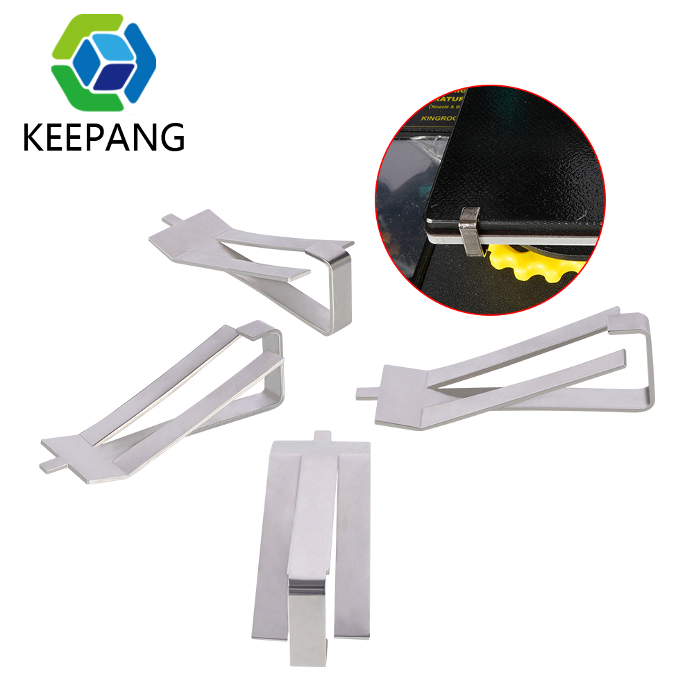 4pcs Stainless Steel Glass Heatbed Clip Clamp Ultimaker UM Hotbed Glass Plate fixing clip Heated Platform Retainer