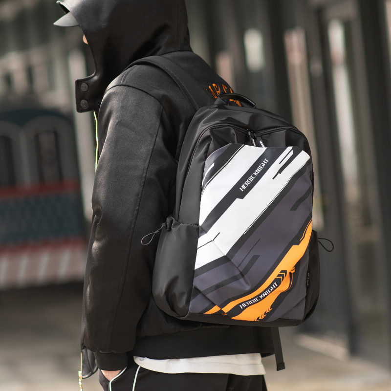 Heroic Knight School Backpack Men 15.6inch Laptop Backpack For Teenage Girls Travel Waterproof  Backpack USB Charger Couple Bags