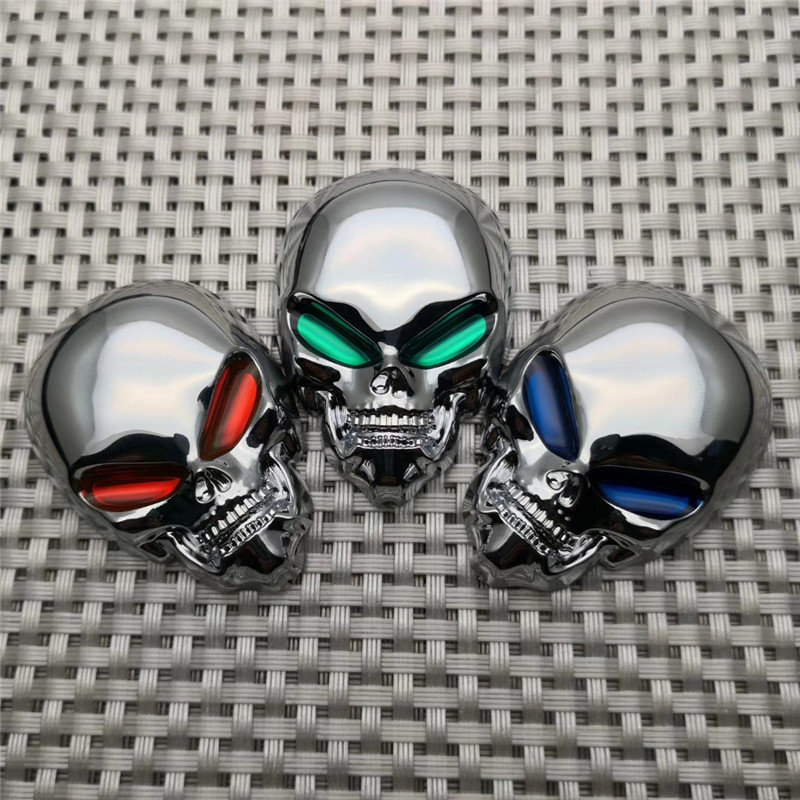 3D ABS Skull Car Stickers Beautiful Motorcycle Truck Emblem Decals Car Moto Decoration Accessories