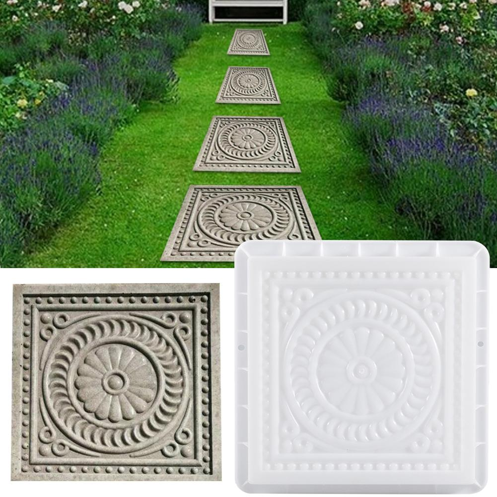 Square Concrete DIY Mold Pavement Plastic Path Maker Mold Paving Cement Brick The Stone Road Paving Moulds Tool For Garden Decor