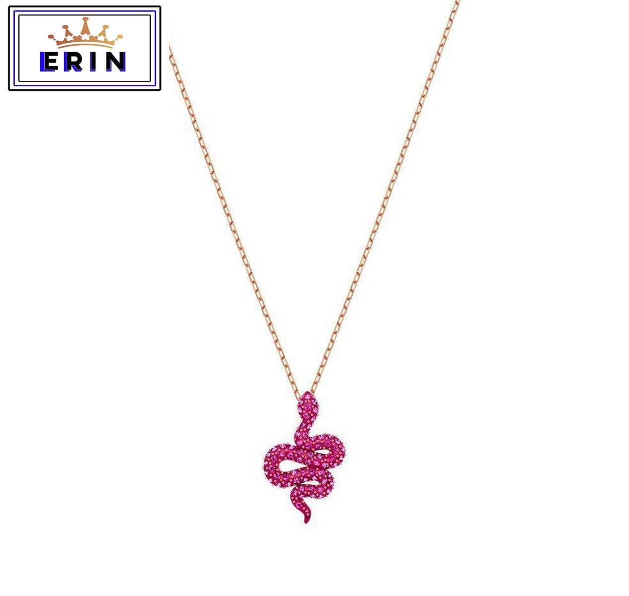 ERIN  High quality SWA unique personality red snake, mysterious Pendant Necklace