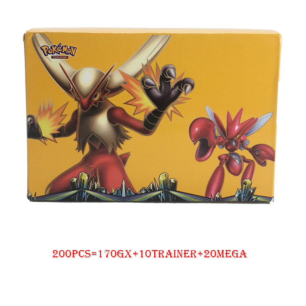 TAKARA TOMY Pokemon 200PCS GX MEGA TRAINER Flash Card 3D Version Sword Shield Sun Moon Card Collectible For Kids Christmas Gifts