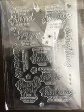Silicone Scrapbook Clear Stamps Words Sellos Silicona Scrapbooking Nuevos Common Sticker Transparent Rubber Album Decor