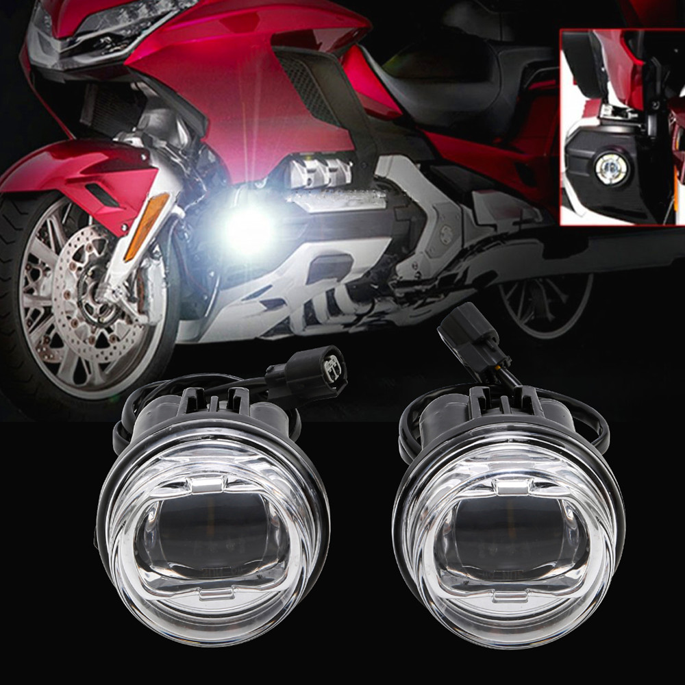Motorcycle LED Fog Lights Attachment Kit For Honda Goldwing Gold Wing 1800 GL1800 2018-2020 2019